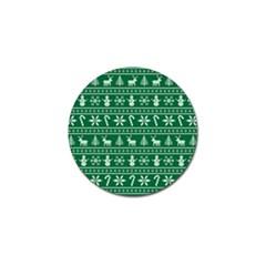 Ugly Christmas Golf Ball Marker by Onesevenart