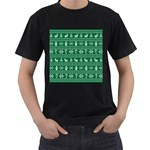 Ugly Christmas Men s T-Shirt (Black) (Two Sided)