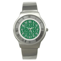 Ugly Christmas Stainless Steel Watch by Onesevenart