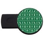 Ugly Christmas USB Flash Drive Round (4 GB)