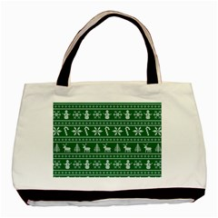 Ugly Christmas Basic Tote Bag by Onesevenart
