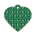Ugly Christmas Dog Tag Heart (Two Sides)