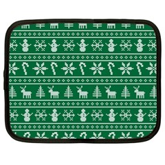 Ugly Christmas Netbook Case (xl)  by Onesevenart