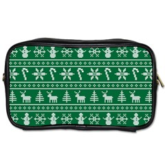 Ugly Christmas Toiletries Bags by Onesevenart