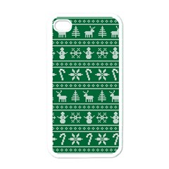 Ugly Christmas Apple Iphone 4 Case (white) by Onesevenart