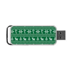 Ugly Christmas Portable Usb Flash (one Side) by Onesevenart