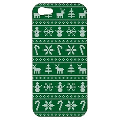 Ugly Christmas Apple Iphone 5 Hardshell Case by Onesevenart