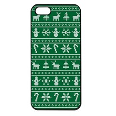 Ugly Christmas Apple Iphone 5 Seamless Case (black) by Onesevenart
