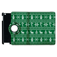 Ugly Christmas Apple Ipad 3/4 Flip 360 Case by Onesevenart
