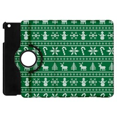 Ugly Christmas Apple Ipad Mini Flip 360 Case by Onesevenart