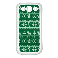 Ugly Christmas Samsung Galaxy S3 Back Case (white) by Onesevenart