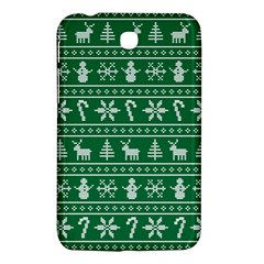 Ugly Christmas Samsung Galaxy Tab 3 (7 ) P3200 Hardshell Case  by Onesevenart