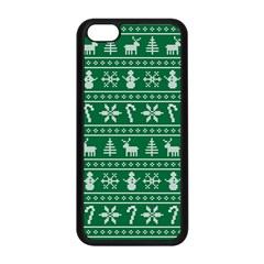 Ugly Christmas Apple Iphone 5c Seamless Case (black) by Onesevenart