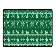 Ugly Christmas Double Sided Fleece Blanket (small)  by Onesevenart