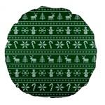 Ugly Christmas Large 18  Premium Flano Round Cushions