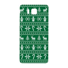 Ugly Christmas Samsung Galaxy Alpha Hardshell Back Case by Onesevenart