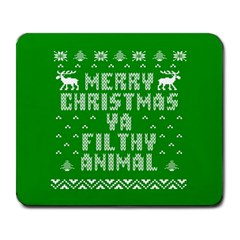 Ugly Christmas Ya Filthy Animal Large Mousepads by Onesevenart