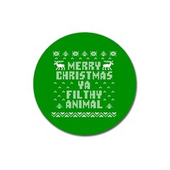 Ugly Christmas Ya Filthy Animal Magnet 3  (round) by Onesevenart