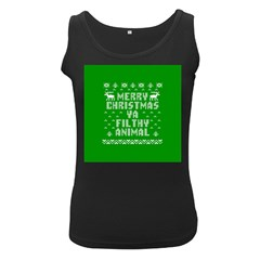 Ugly Christmas Ya Filthy Animal Women s Black Tank Top by Onesevenart