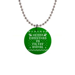 Ugly Christmas Ya Filthy Animal Button Necklaces by Onesevenart