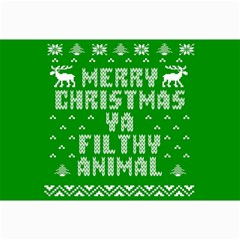 Ugly Christmas Ya Filthy Animal Collage Prints by Onesevenart