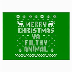 Ugly Christmas Ya Filthy Animal Large Glasses Cloth by Onesevenart