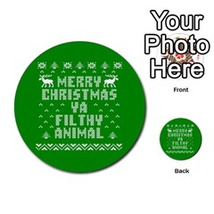 Ugly Christmas Ya Filthy Animal Multi Purpose Cards (round)  by Onesevenart