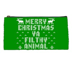 Ugly Christmas Ya Filthy Animal Pencil Cases by Onesevenart
