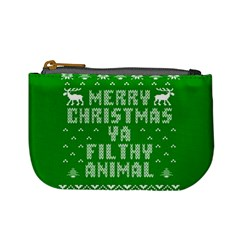 Ugly Christmas Ya Filthy Animal Mini Coin Purses by Onesevenart