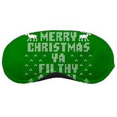 Ugly Christmas Ya Filthy Animal Sleeping Masks by Onesevenart