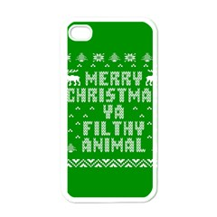 Ugly Christmas Ya Filthy Animal Apple Iphone 4 Case (white) by Onesevenart