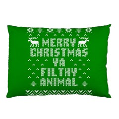 Ugly Christmas Ya Filthy Animal Pillow Case (two Sides) by Onesevenart