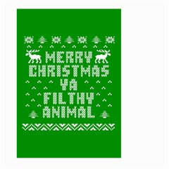 Ugly Christmas Ya Filthy Animal Large Garden Flag (two Sides) by Onesevenart