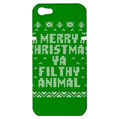 Ugly Christmas Ya Filthy Animal Apple Iphone 5 Hardshell Case by Onesevenart