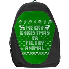 Ugly Christmas Ya Filthy Animal Backpack Bag by Onesevenart