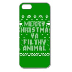 Ugly Christmas Ya Filthy Animal Apple Seamless Iphone 5 Case (clear) by Onesevenart