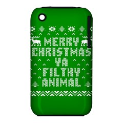 Ugly Christmas Ya Filthy Animal Apple Iphone 3g/3gs Hardshell Case (pc+silicone) by Onesevenart