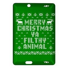 Ugly Christmas Ya Filthy Animal Amazon Kindle Fire Hd (2013) Hardshell Case by Onesevenart