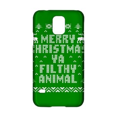 Ugly Christmas Ya Filthy Animal Samsung Galaxy S5 Hardshell Case  by Onesevenart