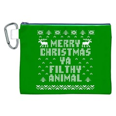 Ugly Christmas Ya Filthy Animal Canvas Cosmetic Bag (xxl) by Onesevenart