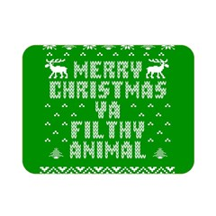 Ugly Christmas Ya Filthy Animal Double Sided Flano Blanket (mini)  by Onesevenart