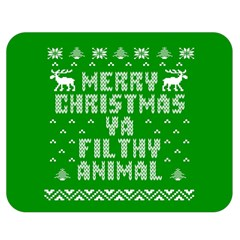 Ugly Christmas Ya Filthy Animal Double Sided Flano Blanket (medium)  by Onesevenart