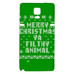Ugly Christmas Ya Filthy Animal Galaxy Note 4 Back Case by Onesevenart