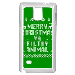Ugly Christmas Ya Filthy Animal Samsung Galaxy Note 4 Case (white) by Onesevenart