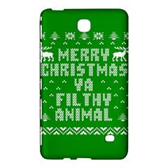 Ugly Christmas Ya Filthy Animal Samsung Galaxy Tab 4 (7 ) Hardshell Case  by Onesevenart