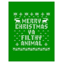 Ugly Christmas Ya Filthy Animal Drawstring Bag (large) by Onesevenart