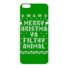 Ugly Christmas Ya Filthy Animal Apple Seamless iPhone 6 Plus/6S Plus Case (Transparent) by Onesevenart