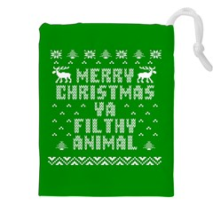 Ugly Christmas Ya Filthy Animal Drawstring Pouches (xxl) by Onesevenart