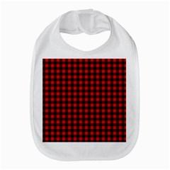Lumberjack Plaid Fabric Pattern Red Black Bib