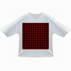 Lumberjack Plaid Fabric Pattern Red Black Infant/toddler T Shirts